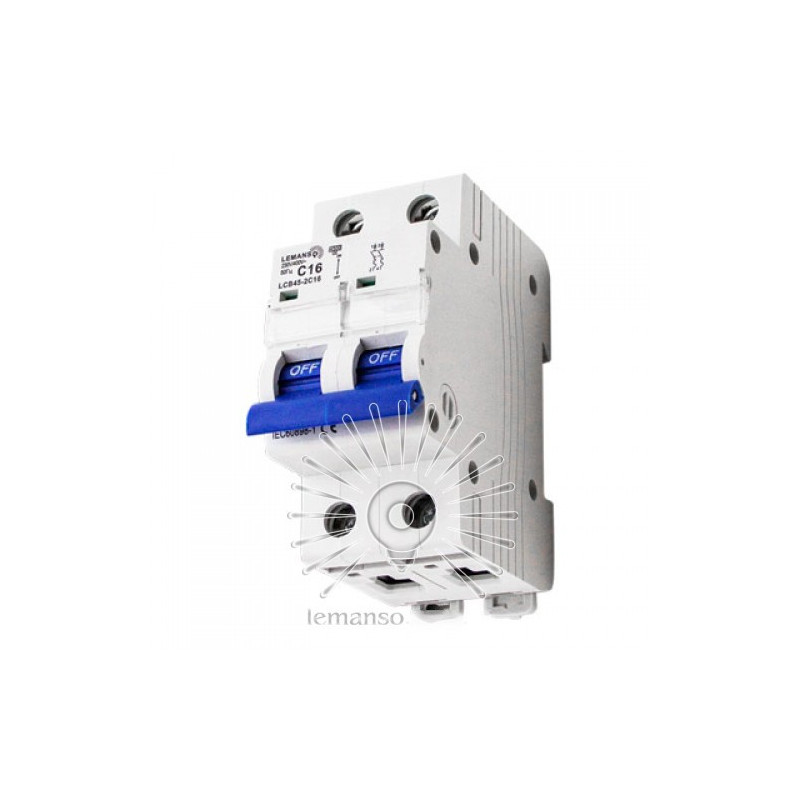 Автоматичний вимикач Lemanso (с) 2п 06А LCB45 Lemanso - 1