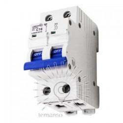 Автоматический выключатель Lemanso 4.5KA (тип С) 2п 16A LCB45 Lemanso - 1