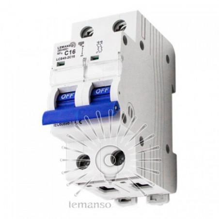 Автоматичний вимикач Lemanso 4.5KA (тип С) 2п 16A LCB45 Lemanso - 1