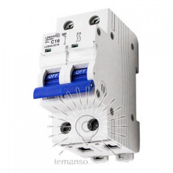 Автоматичний вимикач Lemanso 4.5KA (тип С) 2п 50A LCB45 Lemanso - 1