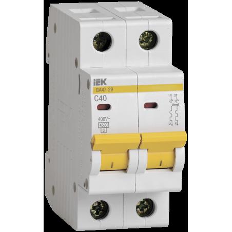 Автоматичний вимикач ВА47-29 2Р 40А 4,5кА С IEK IEK - 1