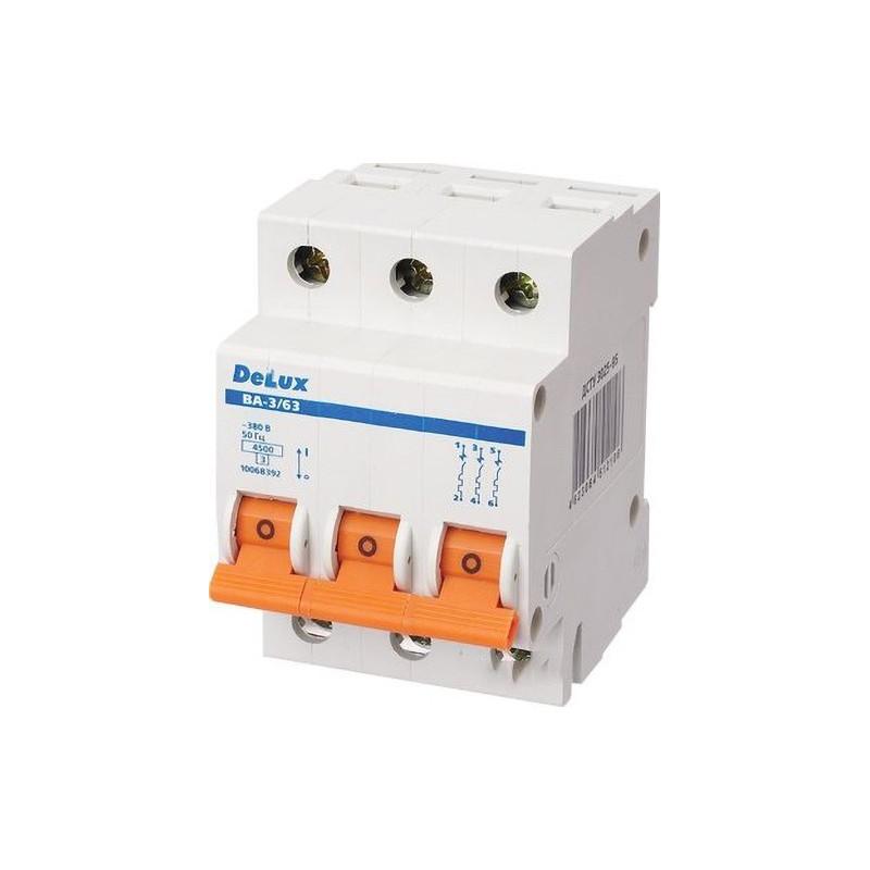 Автоматичний вимикач DELUX ВА-3/63 С20 DELUX - 1