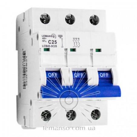 Автоматичний вимикач Lemanso 4.5KA (тип С) 3п 25A LCB45 Lemanso - 2