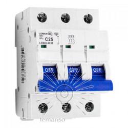 Автоматичний вимикач Lemanso 4.5KA (тип С) 3п 50A LCB45 Lemanso - 1