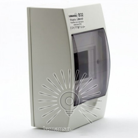 Коробка під 4 автомати LEMANSO накладна, ABS / LMA107 Lemanso - 1