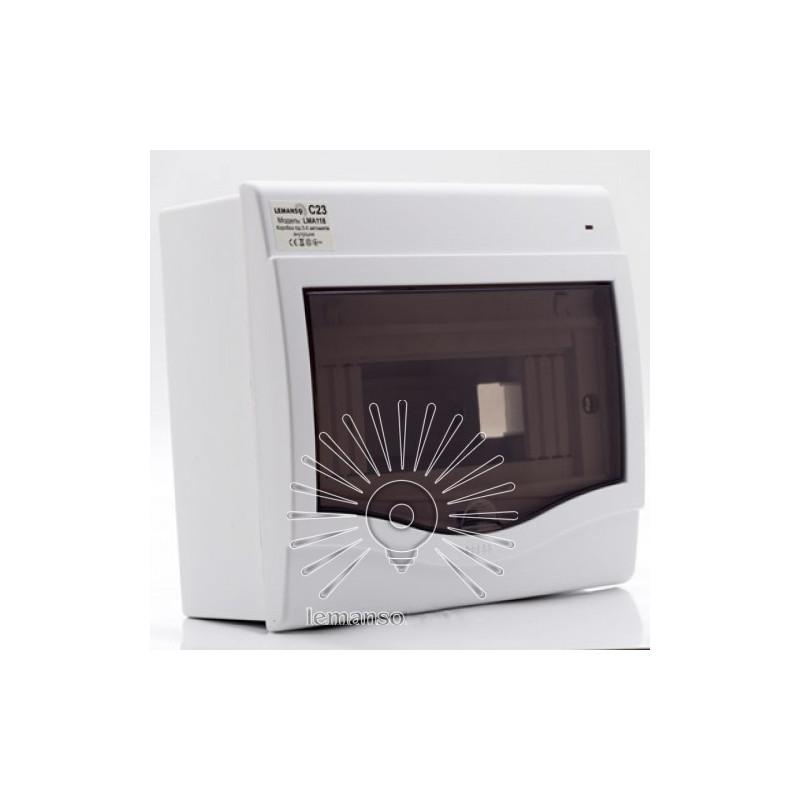 Коробка під 5-8 автоматів LEMANSO внутрішня, ABS, індикатор / LMA118 Lemanso - 1
