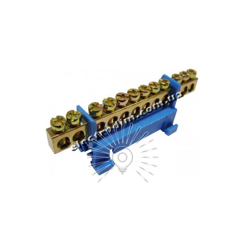 Шина нульова на DIN рейку №12 LMA019. 12 отворів Lemanso - 1