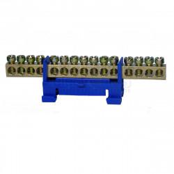 Нулевая шина на DIN рейку №15 LMA019. 15 отверстий Lemanso - 1