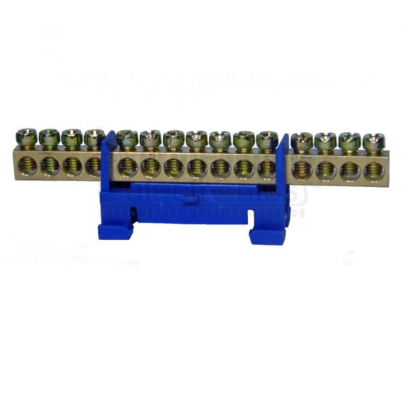 Нульова шина на DIN рейку №15 LMA019. 15 отворів Lemanso - 1