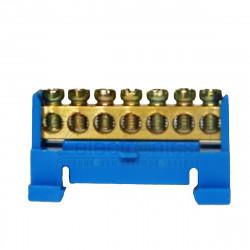 Нульова шина на DIN рейку №7 LMA019. 7 отворів Lemanso - 1