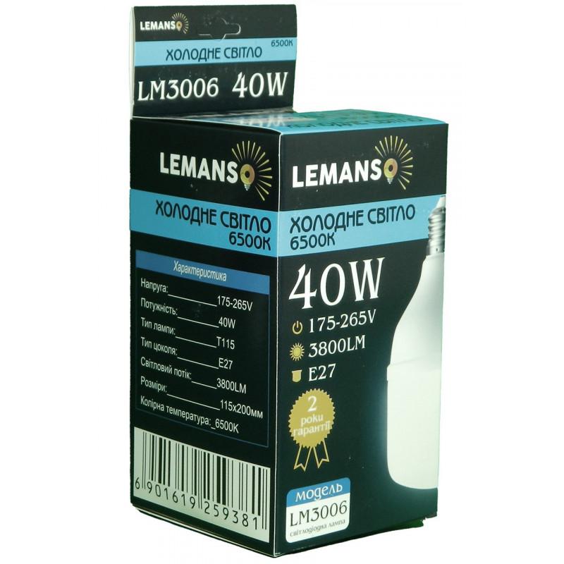 Лампа Lemanso LED 40W T115 E27 3800LM 6500K 175-265V / LM3006 Lemanso - 2