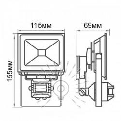 Прожектор Lemanso LED 10W 6500K IP65 c датч./ LMPS14 Lemanso - 2