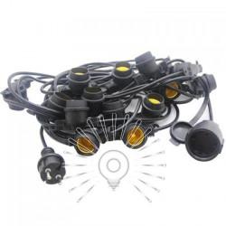 Гирлянда IP65 Lemanso 15 x E27 + кабель 10м + вилка (IP44) / LMA502 (только LED) Lemanso - 1