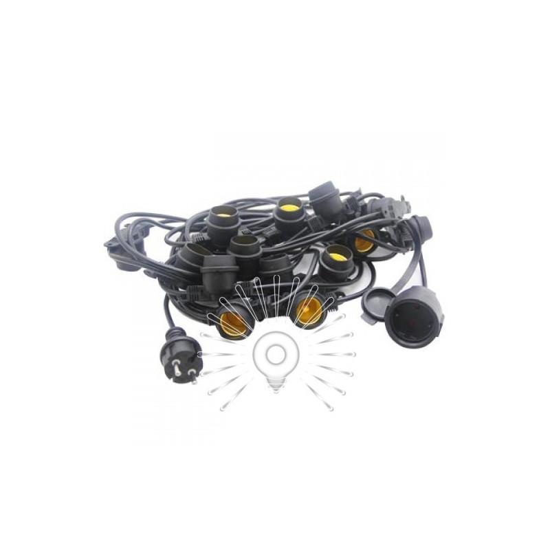 Гірлянда IP65 Lemanso 15 x E27 + кабель 10м + вилка (IP44) / LMA502 (тільки LED) Lemanso - 1