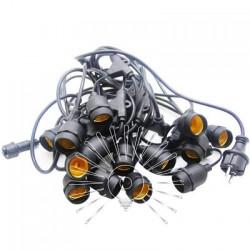 Гирлянда IP65 Lemanso 15 x E27 + кабель 10м + вилка (IP44) / LMA504 (разборная) (только LED) Lemanso - 2